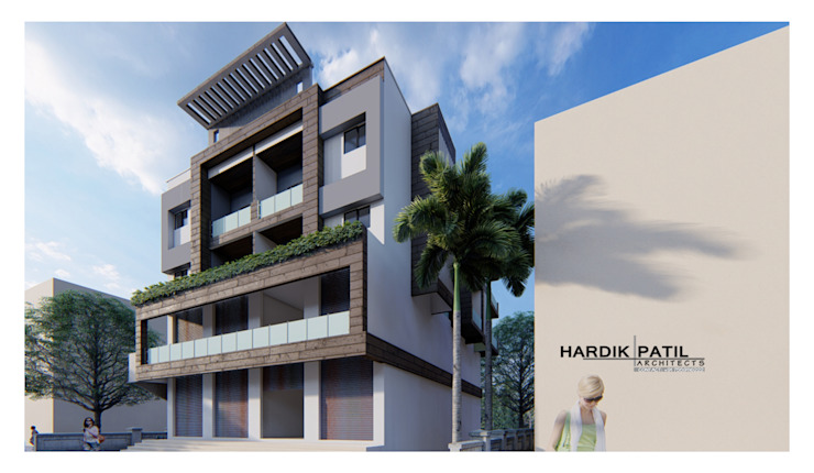di HARDIK PATIL ARCHITECTS Moderno