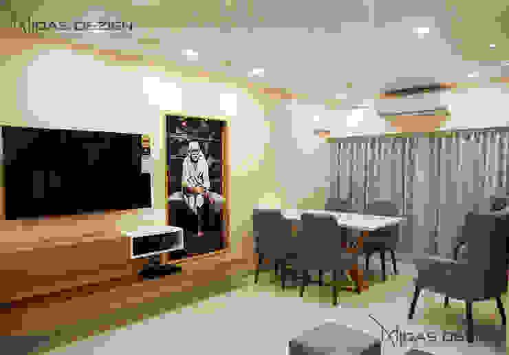 Living with dining Minimalist living room by Midas Dezign Minimalist