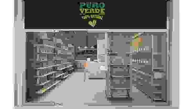 Modelo 3D para Café Vegano Puro Verde de AUTANA estudio Rústico Madera Acabado en madera