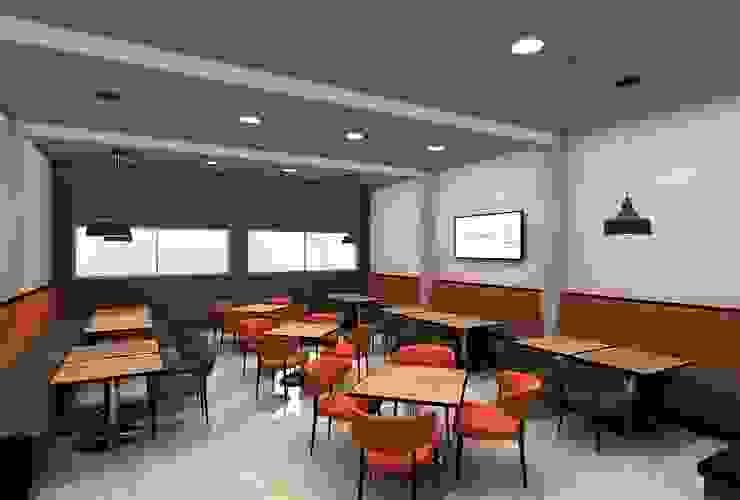 Propuesta para remodelación de Comedor Comedores de estilo industrial de AUTANA estudio Industrial Concreto
