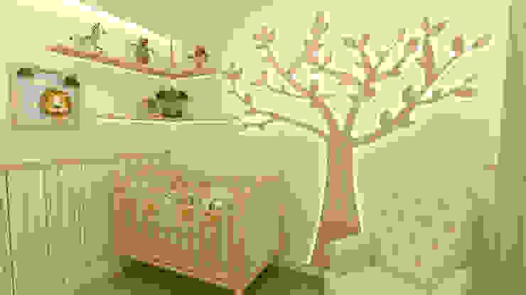 Quartinho Safari JR DECOR - Design de Interiores Quartos de bebê Laranja