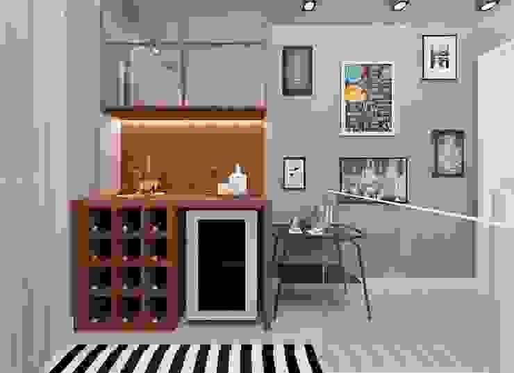 Bodegas de vino de estilo moderno de CaPra Arquitetura e Interiores Moderno Tablero DM