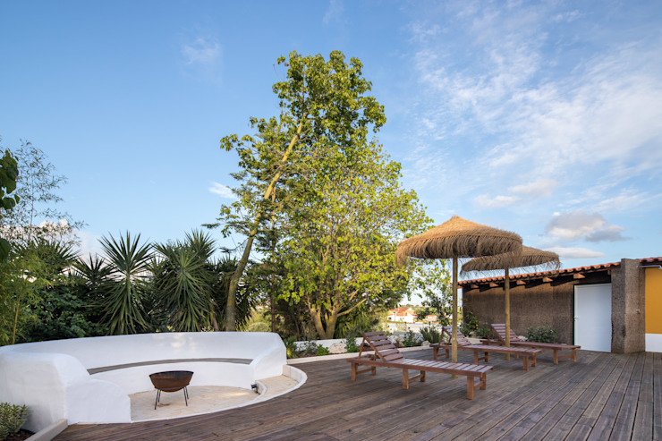 Atelier d'Maison Balcone, Veranda & Terrazza in stile moderno