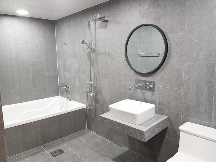 고급팬션 객실 인테리어 모던 스타일 호텔 by 도시건축디자인 모던
