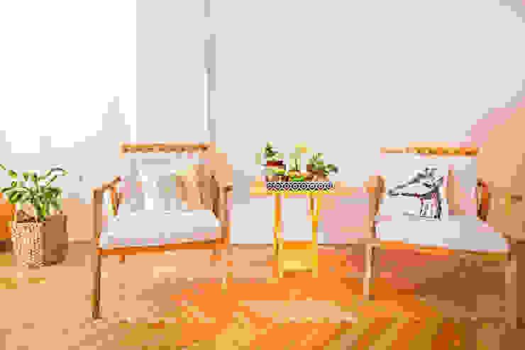 Reforma de un departamento: Livings de estilo  por Ba75 Atelier de Arquitectura,Moderno