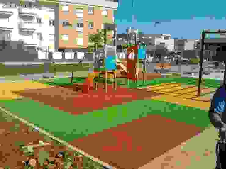 PAVIMENTO DE CAUCHO ACG Construcciones Pisos