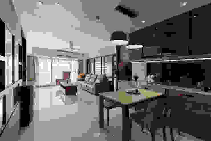 餐廳及客廳 根據 元作空間設計 現代風