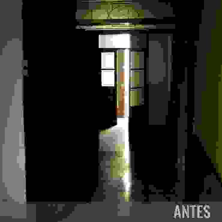 Antes - Pasillo Divers Arquitectura, especialistas en Passivhaus en Sabadell