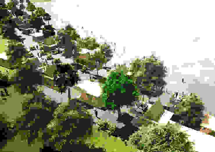 Southeast Asia - Resort Yunhee Choe بالکن،ایوان وتراس چوب Wood effect
