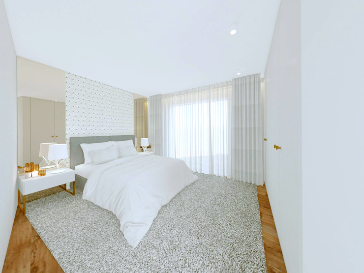 Quartos minimalistas por MIA arquitetos Minimalista