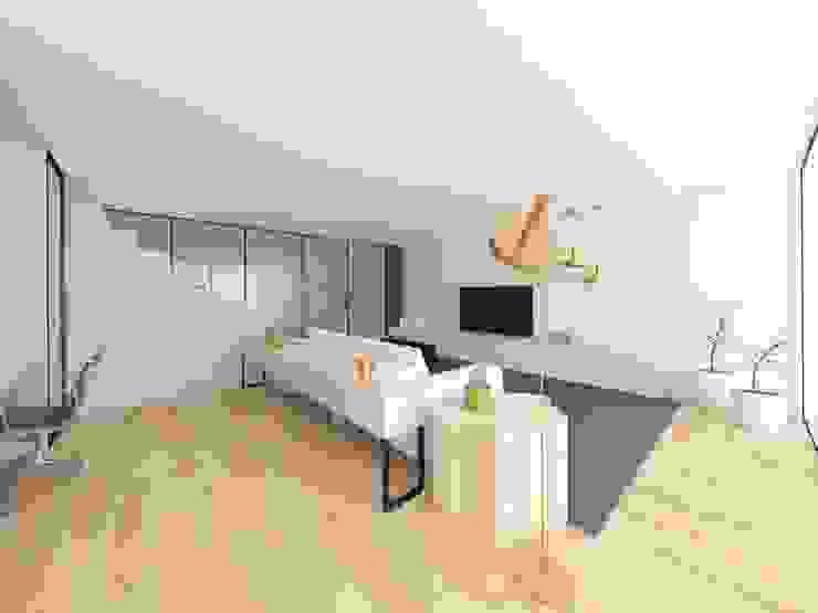Salas de estar minimalistas por MIA arquitetos Minimalista
