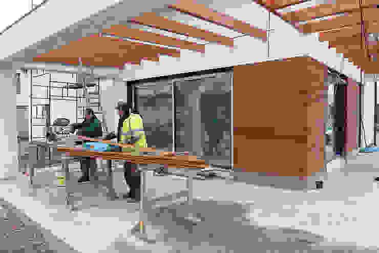 Elewacja drewniana z Garapy. Realizacja w Zielonej Górze PHU Bortnowski