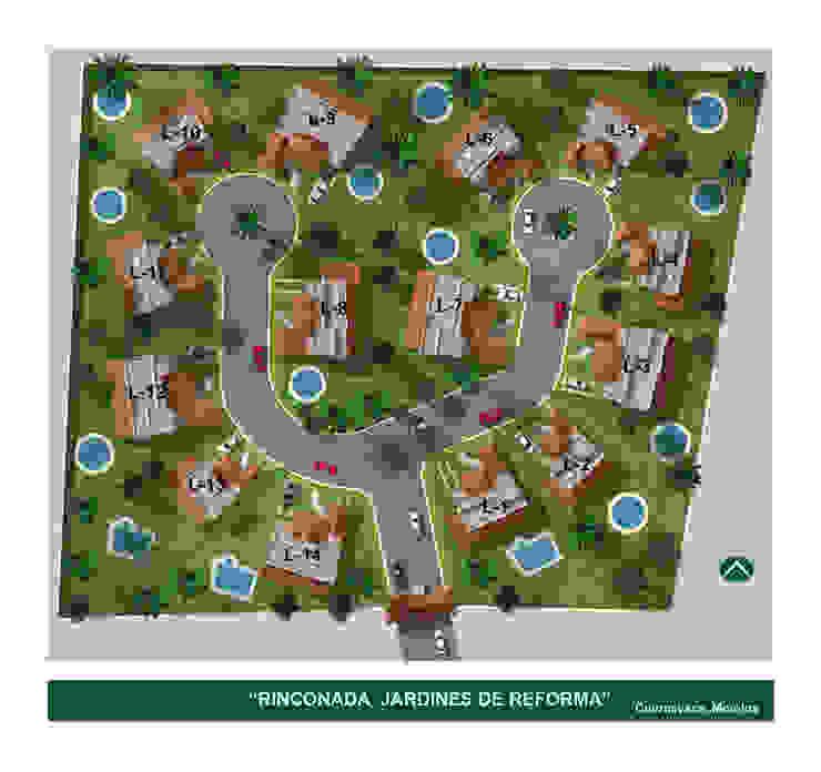 Jardines de Reforma :  de estilo  por A+P Arquitectos, El arte de crear espacios,