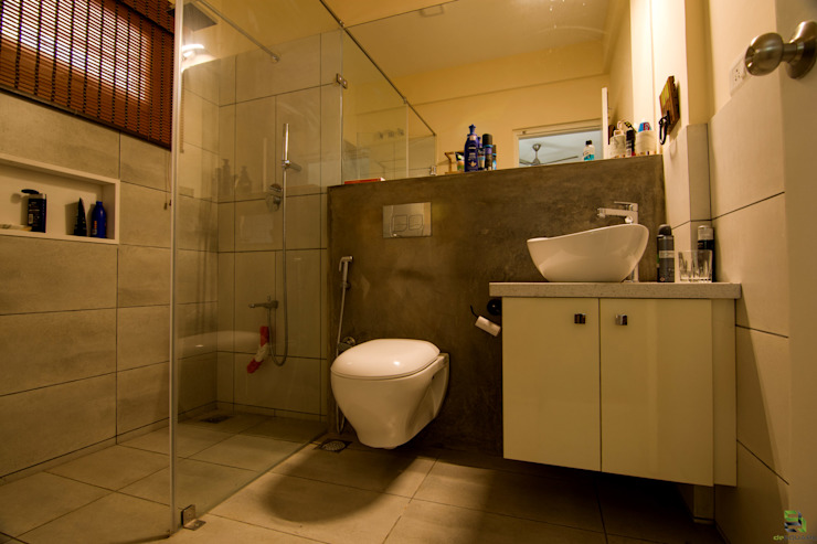 Bathroom de square Modern bathroom Concrete