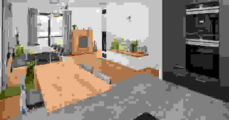 Modern style kitchen by Bau-Fritz GmbH & Co. KG Modern