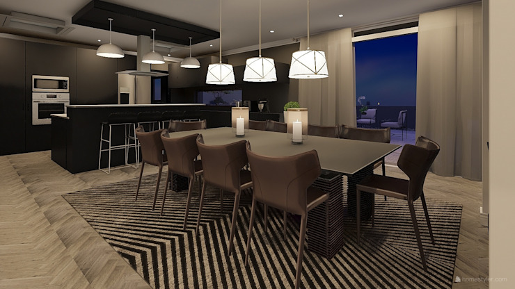 Penthouse Cole Modern dining room by CKW Lifestyle Associates PTY Ltd Modern