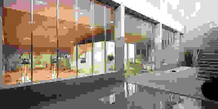 Infografia 3d exterior zonas comunes Infografias 3D y Renders 3D Madrid Casas de estilo moderno