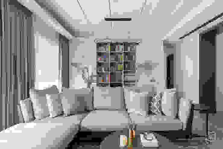 客廳與書房 禾廊室內設計 書房/辦公室