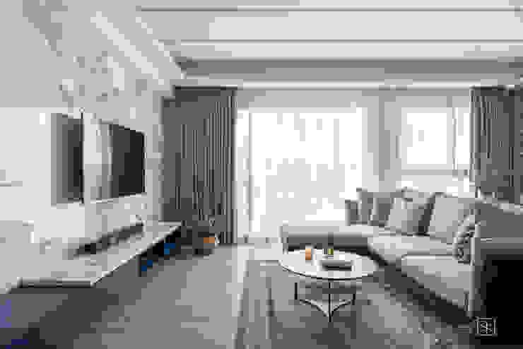 客廳 禾廊室內設計 现代客厅設計點子、靈感 & 圖片