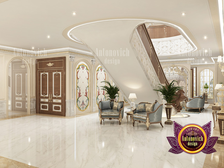 Outstanding Hall Interior Solutions by Luxury Antonovich Design