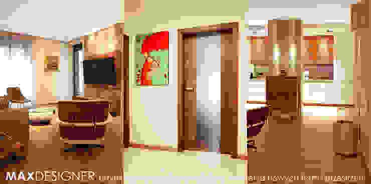 Salon z widokiem na kuchnię. Klasyczny salon od MAXDESIGNER Klasyczny