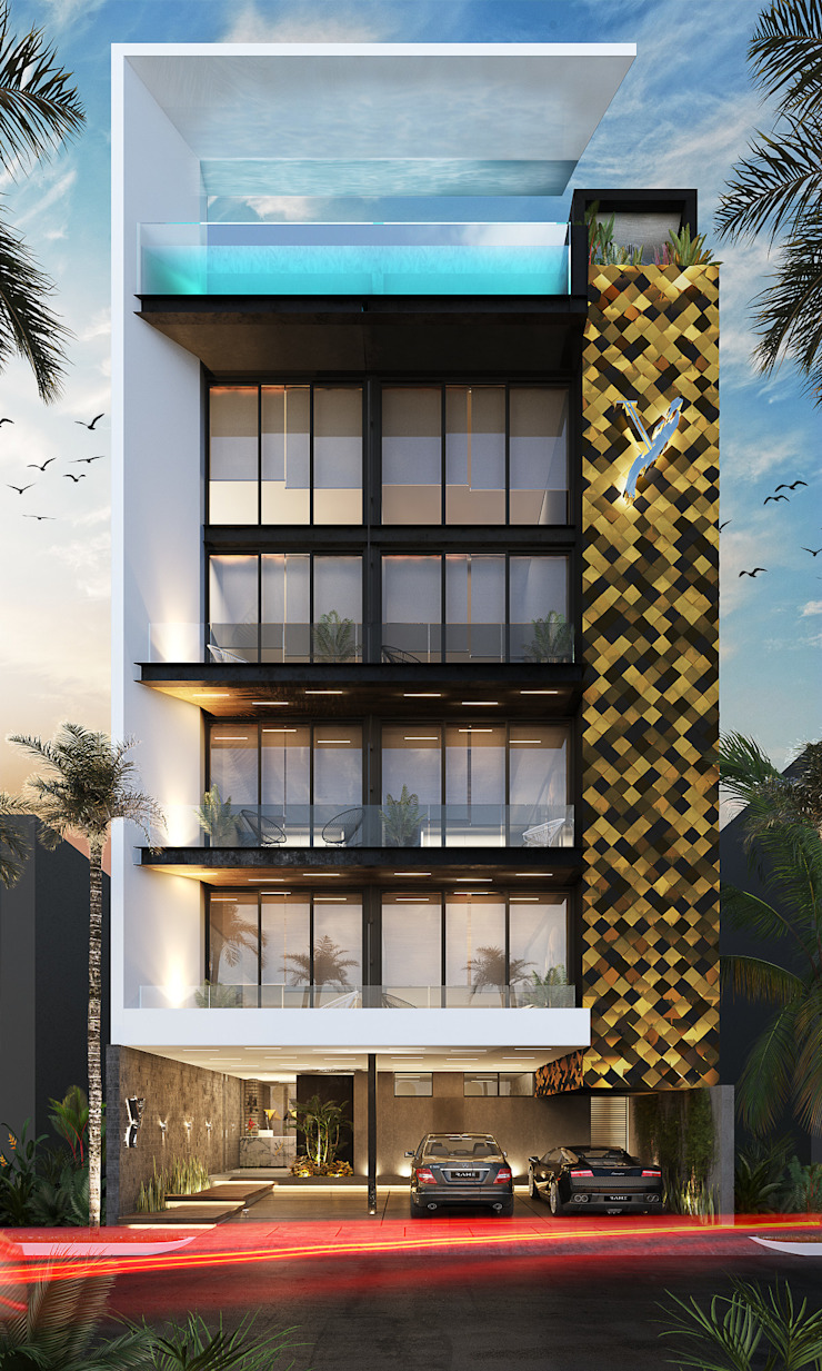 Yellow's Project de RAHE arquitectos Moderno