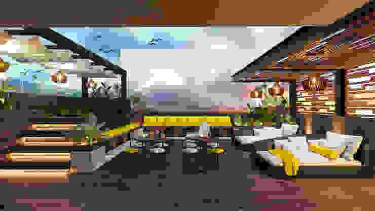 Yellow's Project Balcones y terrazas de estilo moderno de RAHE arquitectos Moderno