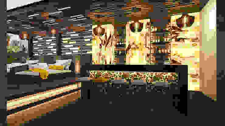 Yellows' Project Balcones y terrazas de estilo minimalista de RAHE arquitectos Minimalista