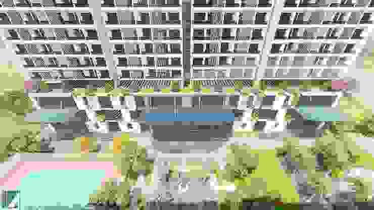 2 TÒA CHUNG CƯ CAO CẤP 15 TẦNG bởi Kiến trúc Việt Xanh