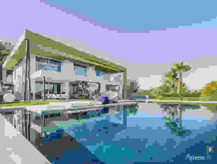 Superfici in Vetro Blindate per Villa: Porte scorrevoli in stile  di Ercole Srl,