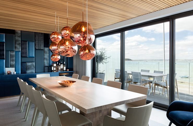 Family Home by WN Interiors Modern Dining Room by WN Interiors Modern Wood Wood effect