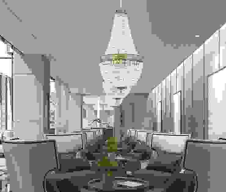 AREZZO Gold Ceiling Light with Swarovski Crystals 8 Lights HANDMADE Chandelier Oficinas de estilo clásico de Luxury Chandelier Clásico Cobre/Bronce/Latón