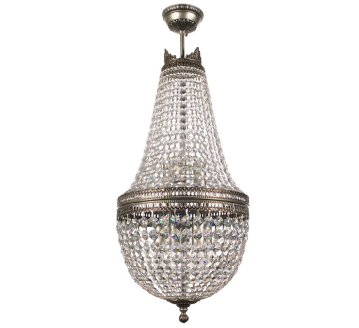 Arezzo Swarovski Crystals Chandelier Brass Semi Flush Light Pasillos, vestíbulos y escaleras de estilo clásico de Luxury Chandelier Clásico Cobre/Bronce/Latón