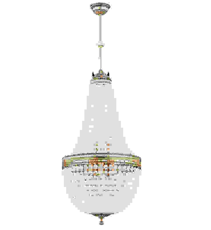 AREZZO Ceiling Lighting with Swarovski Crystals HANDMADE Salas de estilo clásico de Luxury Chandelier Clásico Cobre/Bronce/Latón