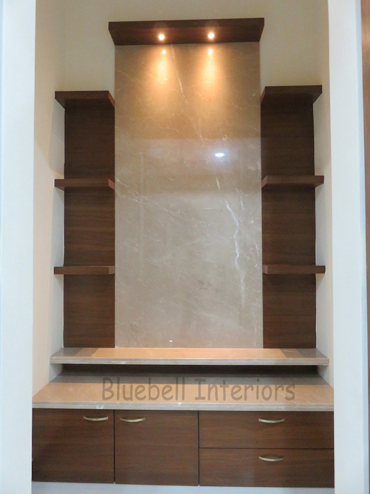 Pooja unit by Bluebell Interiors Classic