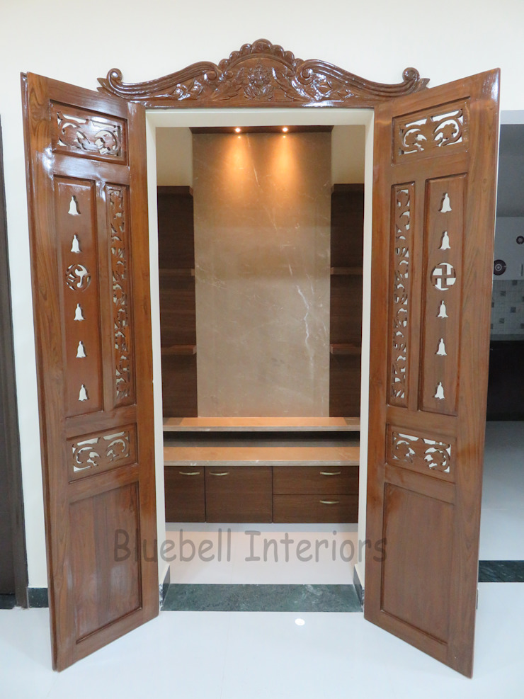 Pooja room by Bluebell Interiors Classic