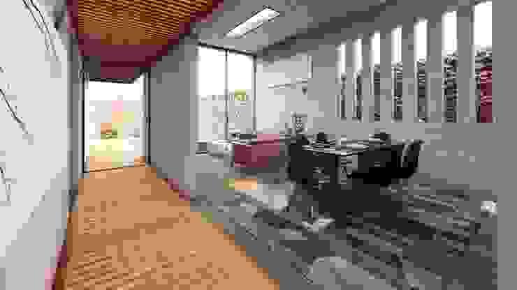 Sala comedor Salas modernas de DOGMA Architecture Moderno Concreto