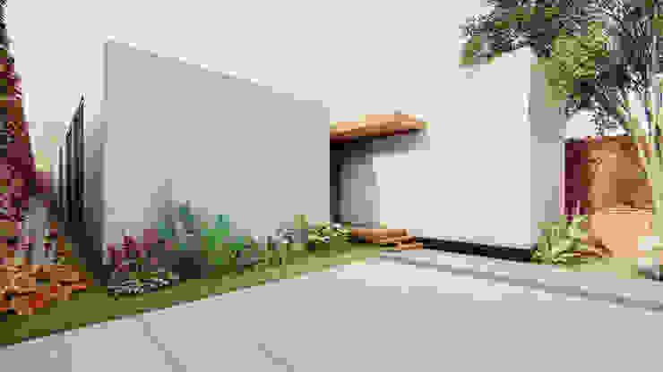 Área de ingreso Garajes modernos de DOGMA Architecture Moderno Concreto