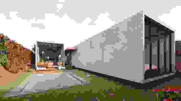 A´rea social de piscina y terraza Balcones y terrazas modernos de DOGMA Architecture Moderno Concreto