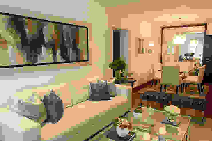 Sala comedor en San Isidro: Salas / recibidores de estilo  por Velú Studio