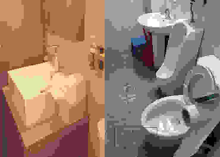 화장실리모델링 러스틱스타일 욕실 by 디자인모리 러스틱 (Rustic)