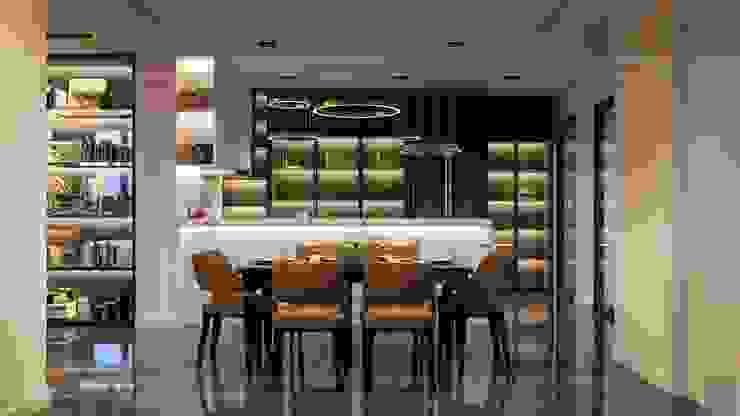 CẢM HỨNG MANHATTAN TRONG THIẾT KẾ CĂN HỘ LANDMARK 81 Phòng ăn phong cách hiện đại bởi ICON INTERIOR Hiện đại