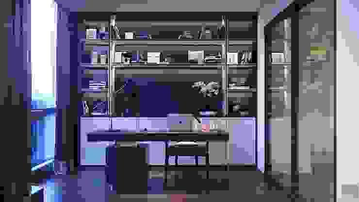 CẢM HỨNG MANHATTAN TRONG THIẾT KẾ CĂN HỘ LANDMARK 81 Phòng học/văn phòng phong cách hiện đại bởi ICON INTERIOR Hiện đại