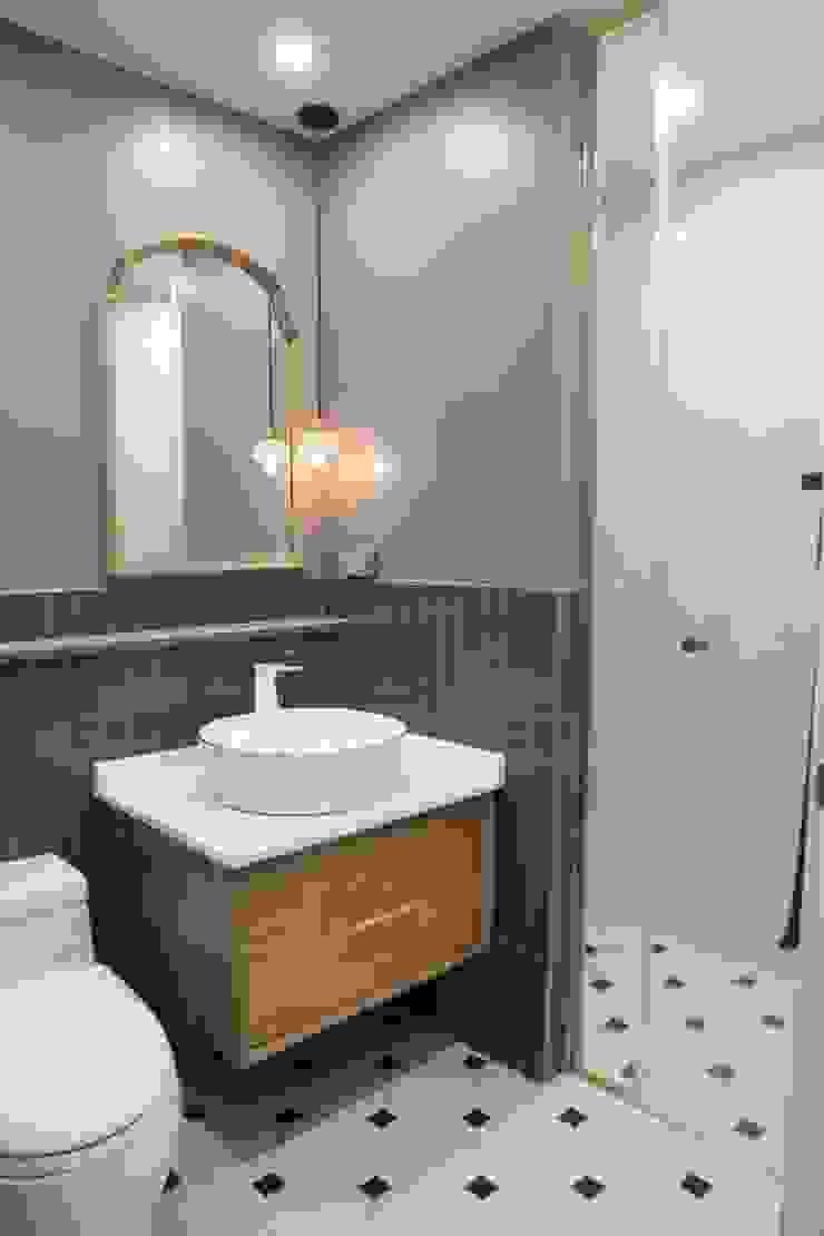 봇들마을 아파트 인테리어 모던스타일 욕실 by 프라디자인 모던