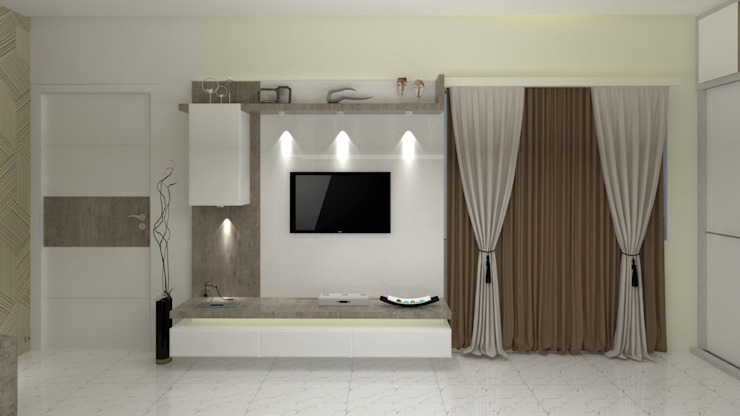 Master Bedroom:  Bedroom by Jamali interiors,