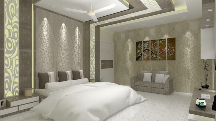 Master Bedroom Asian style bedroom by Jamali interiors Asian