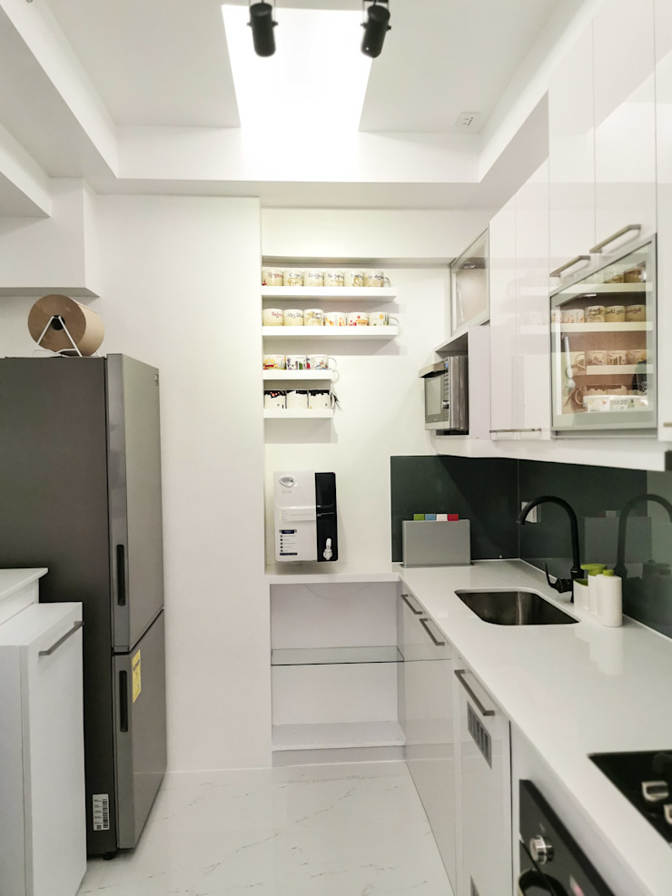 Zinnia Towers Project TG Designing Corner Small kitchens