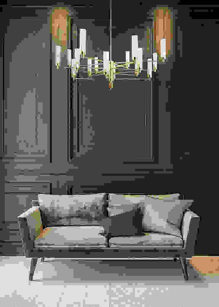 Contemporary Gold Brass Luxury Chandelier SETI 8 Arms Glass Lamp Shade 根據 Luxury Chandelier 古典風