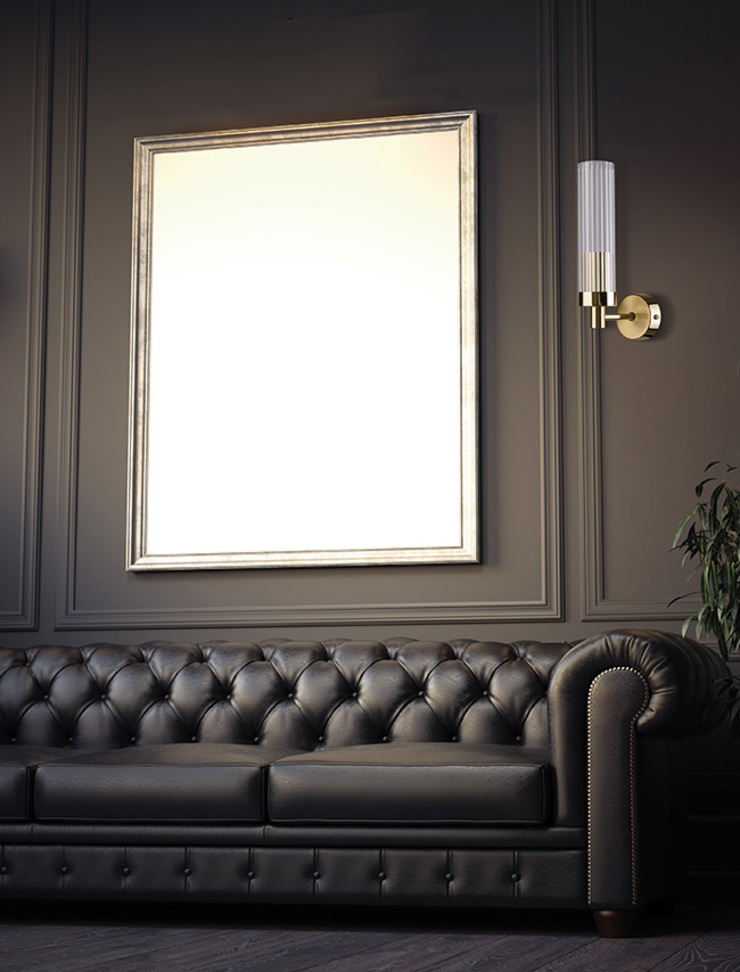 Wall Light SETI Made of Brass with Glass Lamp Shade 根據 Luxury Chandelier 古典風 銅/青銅/黃銅