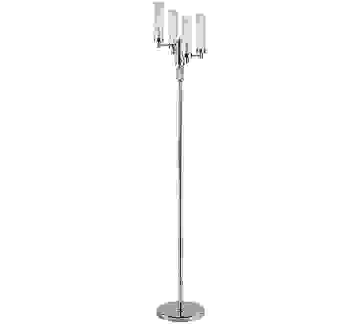 Standing Lamp/ Floor Lamp SETI Nickel Finishes Glass Lamp Shade 根據 Luxury Chandelier 古典風